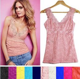 Sexy fashion women lace tank tops vest V neck tanks T-shirt pure hollow sleeveless shirt racerback shirts S M L  XL Christmas gift