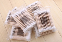 medical packaging - 100 Package Wooden Cotton Swab Tip For Medical Cure Make up