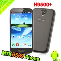5.0 Android 1G Feiteng H9500 S4 Smart Phone Android 4.2 MTK6589 Quad Core 5.0 Inch HD IPS Screen 5.0MP Front Camera H9500+