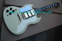 Solid Body 6 Strings Maple Custom Shop Left Hand SG400 SG Ebony Custom Electric Guitar In Cream By Topsellingguitar1960