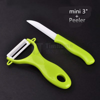 Wholesale 3 quot inch Peeler colors Paring Fruit Utility Kitchen ceramic Knife Sets