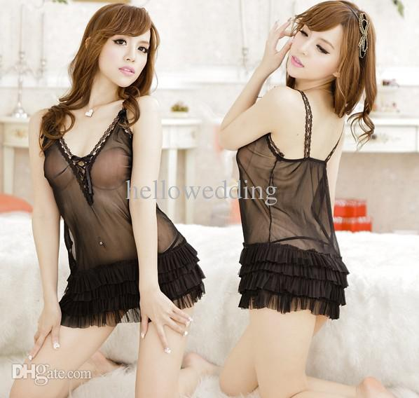 New Promotion Sexy Girl'S Lingerie Women Sleepwear Dress Thong ...