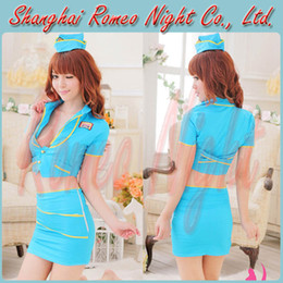 Wholesale Naughty Stewardess Halloween Cosplay Sexy Costume Women Sexy Babydolls Lingerie Erotic Suit