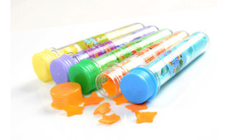 Wholesale Colorful handmade portable travel test tube soap paper washing cleaning bath soap flowers wedding party gifts