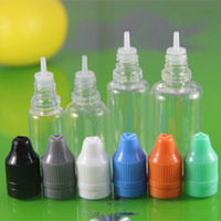 Wholesale 200pcs ml ml ml ml PET plastic bottle with needle cap Empty dropper bottle with ecig Child proof cap needle cap for my vip customers