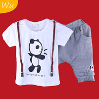 Boy Spring / Autumn Short 2013 new summer Wu kids clothes, 5 sets lot wholesale the sport suits, boys T-shirt+short pant 2-piece set, Free shipping
