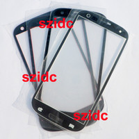 For Samsung Galaxy S3 i9300 White/Black/Red/Pink  For Samsung Galaxy s3 i9300 Front Glass Outer Lens Touch Screen Cover Black White Red Pink New Replacement Parts Free DHL EMS FEDEX