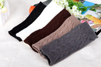 Wholesale 12 Pair mix color Promotion Hand Wrist gloves Winter Warmer Knitted Fingerless Gloves very high quality