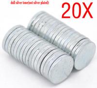 Wholesale 100PCs Silver Tone Disc Magnets x1mm
