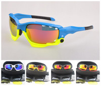 Wholesale Blue Yellow Frame Sunglasses Bicycle Cycling Eyewear Glasses Sport UV400 Lens Sunglasses Lens Goggles Colors