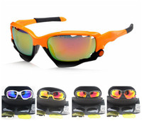 PC Driving Oval Free Shipping Orange Black Frame Sunglasses Bicycle Cycling Eyewear Glasses Sport UV400 3 Lens Sunglasses Lens Goggles 14 Colors