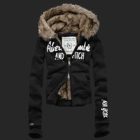 Jackets Women Wool Blend Wholesale Women's New Thick Winter Coat Fur lined Hoodie Jacket