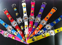 Wholesale 10pcs NEW Cartoon D despicable me minion Wrist watch kids children Boys cartoon quartz watches christmas gift
