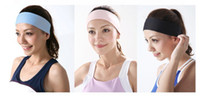 Wholesale Best for yoga sports colors can be mix Polyester women elastic headbands hair accessories A345