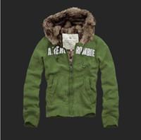 Wholesale 2014 Men s Thick Winter Jacket Fur lined Hoodie coat