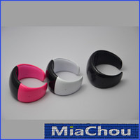 Wholesale 5pcs Xmas Sale A93 A95 Magic LED Time Wrist Bluetooth Bracelet Gear Vibrating Bangle Speaker Phone Call Handsfree Smart Watch