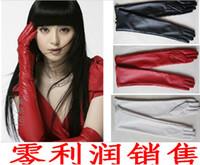 Wholesale Hot Sale Women s faux leather long gloves ultra long belt long design fashion women s leather gloves women cm