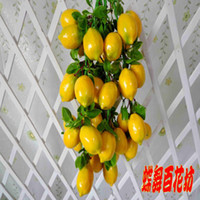 Wholesale Simulation fruits flower vine string Decorative wreaths home garden decor artificial lemon plastic fruit wedding party decorations