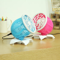 Wholesale Silent motor double desktop usb fan big small electric fan rotating mini fan