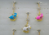 Wholesale Elephant Pendant Crystal mobile phone dustproof plug cartoon headphone dustproof plug new