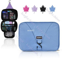 Wholesale New Bath Hanging Folding Travel Waterproof Wash Bag Travel Receive Bags Supplies Makeup bag Aoaoi