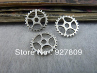 Wholesale mm Antique Silver Alloy Gear Mechanical watches Diy handmade accessories