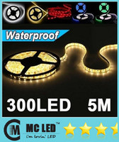 Wholesale 50M RGB Warm Cool Pure White Red Green Blue LED Strip Light Waterproof M Leds V LED ribbon Christmas Lighting Home