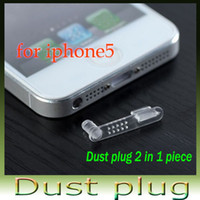 Wholesale For apple iphone5 dust plug earphones mouth one piece multicolour dustproof plug for apple dust plug set500pcr I5 A008