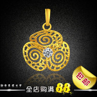 Pendant Necklaces Alloy / Silver / Gold other / other New Clover Flower diamond pendant imitation gold alluvial gold plated with gold thousands of gold jewelry ingredients