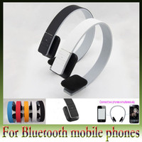 Wholesale FEDEX Free Fashion Music Bluetooth Wireless Headset Stereo Audio Headphone with mic PC MP3 MP4 for Android phone ios iphone AOX A058