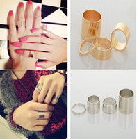 Cluster Rings Punk Women's Gothic Punk Gold Stack Plain Band Above MIDI Knuckle Rings Set Fine Finger Ring[JR15075*10]