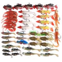 Wholesale On sale fishing Swim Baits Soft Plastic Lures Lead Jig Heads OSBQ09