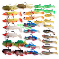 other Artificial Bait on sale On sale 30pcs fishing Swim Baits Soft Plastic Lure Lead Jig Head OSBQ06