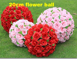 20 CM 8 inch Artificial Simulation of High-quality Encryption Kissing Rose Flower Ball for Wedding Decorations the New Year Festive Supplies