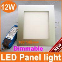 Yes 240V 3014 Square Silver 12W Dimmable LED Panel Lights 180mm*180mm led ceiling light Australia SAA C-TICK CE ROHS AC110V 220V Free shipping 6pcs+