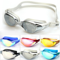 Wholesale Professional Swimming Goggles Electroplate plain glass myopia Swimming Glasses Spectacles Diving Equipment