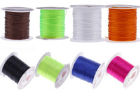 Wholesale 5Roll M mm Elastic Glossy Crystal Cord Cable Durable Shambhala Beading Thread Rope Bracelet Jewelry Making DIY ND