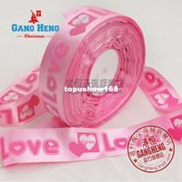 Wholesale Mini mixed order Christmas Ribbon Grosgrain Ornament Pink Christmas Printed Ribbon Love Sweety Xmas Decoration