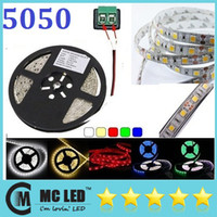 Wholesale 30M V Warm Pure Cool White Red Green Blue RGB Waterproof Flexible Led Strips Light M Leds Roll Set