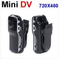 Wholesale MD80 Bracket Clip Black Sports Video Camera Mini DVR Camera Mini DV Video Recorder Waterproof Sports Camcorder Black fast shipment