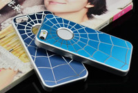 Metal web design - Fashion Design Spiderman Spider Web Metal material Back Cover Case for Iphone s Iphone