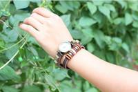 Wholesale Rivet Bracelet Watches Cow Leather quartz watch Retro Wrist Watches For Women