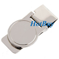 Wholesale Stainless Steel Double Sided Slim Money Clip Card Receipt Holder for Men and Women
