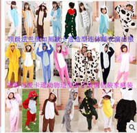 Wholesale Adult flannel piece toilet models cartoon style pajamas parenting