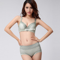 Wholesale Women s underwear far infrared radiation resistant single bra adjustable push up bra panties set t2208