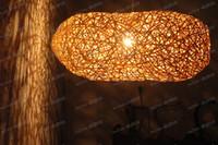 Pendant Light bamboo pendant light shades - LLFA3349 LB5111 Handmade bamboo pandent natural color in long bird nest shade