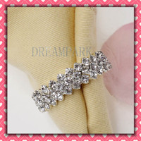 Wholesale Metal amp White Rhinestone Napkin Rings Hotel Wedding Supplies