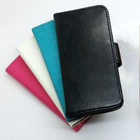 Wholesale Flip Wallet Purse Pouch PU Leather Case Cover With Credit Card Slot Slots Pouch for iPhone S iphone5 DHL