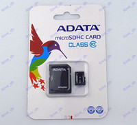 Wholesale 32GB ADATA MICROSD SDHC Card Flash Memory Card Free Adapter with retail package D90 D7100 D3200 D5200 D5100 D3100
