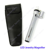 Wholesale New X Jewelry Gem Handheld Pocket LED Light Microscope Lpoue Magnifier Pen Zoom